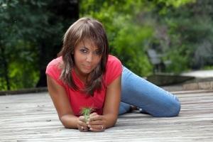 Mature Black Woman on a Boardwalk (2)