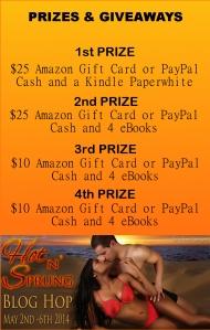 Hot n Sprung EBook Prize Breakdown